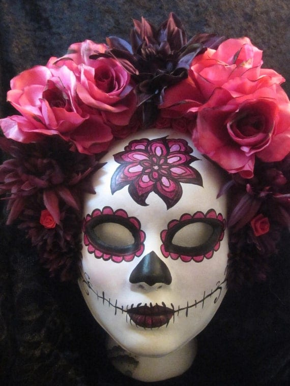 Sale!  Ready to ship!  Sangria Mask, Day of the Dead