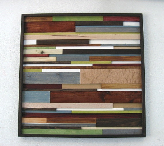 Reclaimed Wood Art Wall Rustic By ModernRusticArt
