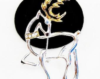 Christmas Reindeer Modern Figural Brooch