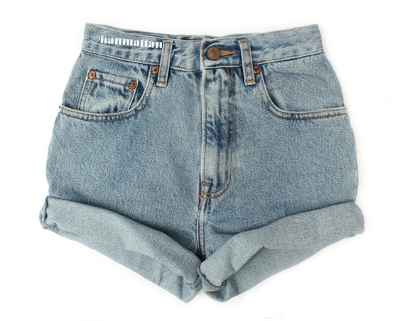 Blue Jean High Waisted Shorts