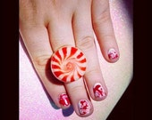 Peppermint Swirl Ring (Adjustable)