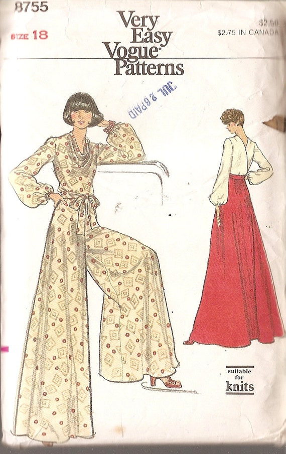 wide leg pants patterns sewing - Pi Pants