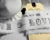 Ribbon 5yards French Hand Stamped Paris