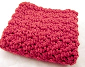 Red Washcloth, Crochet Facecloth, Cotton Washcloth, Cotton Face Cloth, Red Cloth, Cleansing Cloth
