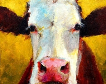 Ivy- cow painting- print of an original painting by Cari Humphry