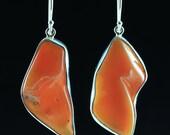 Mark Garbarini Sterling Fire Opal Earrings