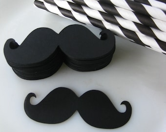 DIY Imperial Mustache Straw Kit 50 Paper Straws Photo Prop