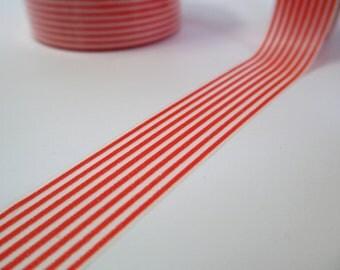 Washi Tape Orange Skinny Striped