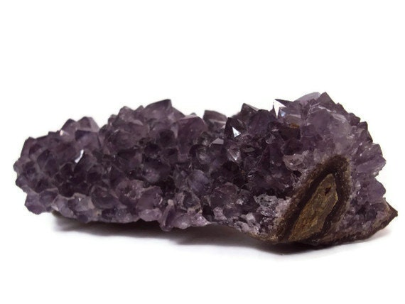 Druzy Amethyst Cluster, Purple Amethyst, Rough Gemstone Rock, Metaphysical Crystal for Reiki Healing, New Age Spiritual Supplies (AM29)
