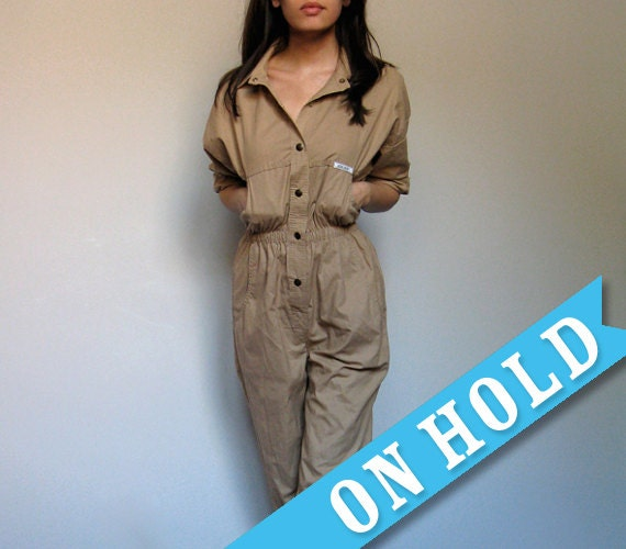 Beige Jumpsuit Womens