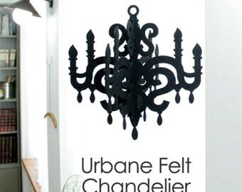 Felt Chandelier - Black, White