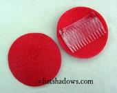 Red Straw Fascinator Millinery Hat Base with Comb