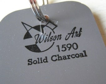 Wilson Art Laminate Sample Key Ring Solid Charcoal