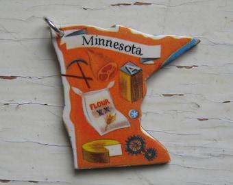 Minnesota Vintage Puzzle Pendant