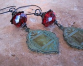Earrings Long Romantic and Rustic