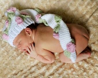 Adorable Woodland Long Tail Elf Hat Crochet Pattern PDF 191 Great Photo Prop