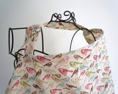Couture Mama Nursing Cover - Flea Market Birds - Plus a FREE set of Hooter Soothers Washable nursing pads
