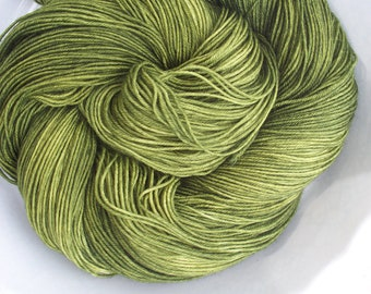 In a Pickle --Classic Sock-- Hand Painted Superwash Merino Wool/Nylon Sock Yarn