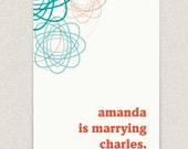 Announce - Clean and modern wedding invitation with graphic styling