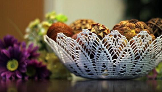Crochet Lace Bowl/basket