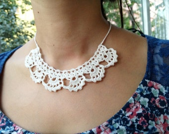 PDF Tutorial  Crochet Pattern... Lace Jewelry,  Necklace -1