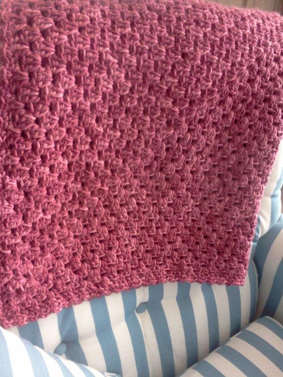 ON SALE....Afghan / Lapghan / Baby Blanket / Wheelchair Cover / Pretty Pink