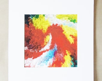 Fine Art Print - Modern Art Print - Colourful Art - Petals (Eye of the Storm) Recycled 10x10-Fine Art Paper