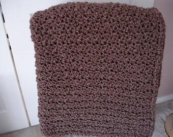 Brown Afghan Throw Blanket