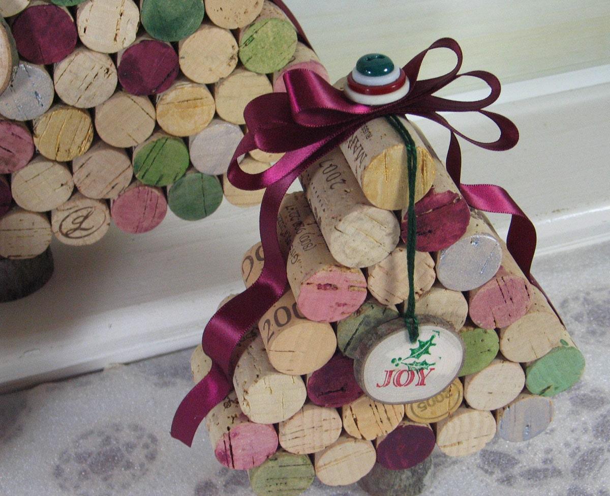 Artesanato Reciclagem Caixa De Leite ~ Árvore de Natal com rolhas de cortiça recicladas de garrafas de vinho u2013 Matéria Incógnita