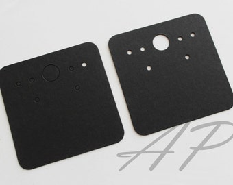 """100 pcs of Blank Earrings Paper in Black Paper for Accessories Jewelry(2"""" X 2"""")"""