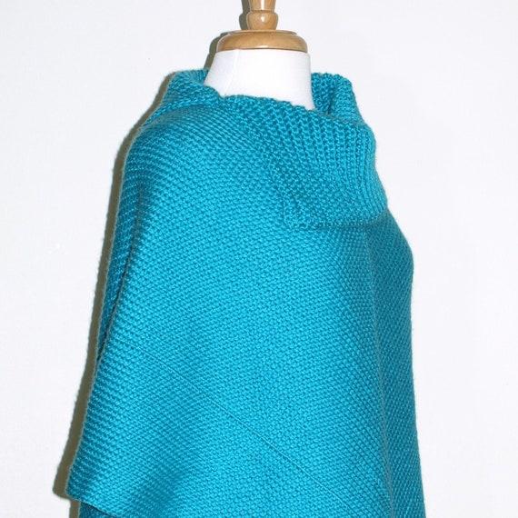 Cowl Neck Poncho Knitting Pattern : Crochet Poncho Pattern, Cowl Neck Poncho, Womens Poncho, CROCHET PATTERN, Aut...