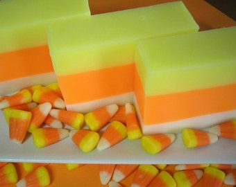Set of 4 - Candy Corn Soap, Soap for Kids, Fall Soap,  Halloween Soap, Holiday Soap, Autumn Soap, Soap for Children, Glycerin Soap