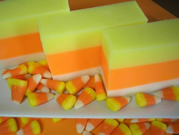 Candy Corn Soap - Soap for Kids,  Fall Soap,  Holiday Soap, Autumn Soap, Soap for Children, Halloween Gift Soap, Candy Soap, Glycerin Soap