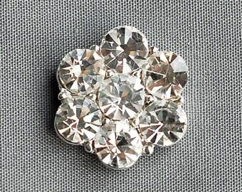 SALE 10 Rhinestone Button Embellishment Crystal Wedding Brooch Bouquet Invitation Cake Decoration Hair Comb Clip BT104