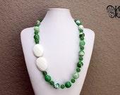 Prepster Green - statement necklace