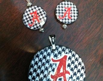 Alabama pendant and earrings