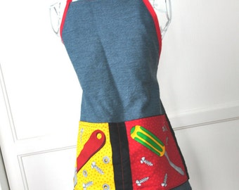Boys Denim Tool Apron, with Complimentary Personalization