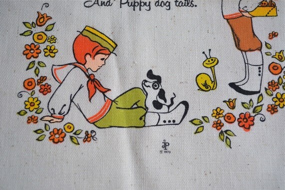 Vintage Fabric Panel for Crafts - Little Mod Boys are Made of ....