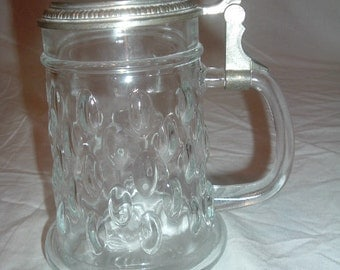 vintage BMF glass beer Stein made in w, Germany