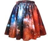 Crimson Galaxy Skirt, Organic Cotton