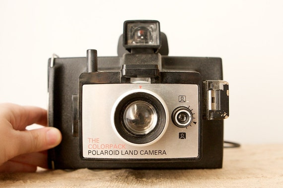 vintage polaroid colorpack land camera. Black Bedroom Furniture Sets. Home Design Ideas