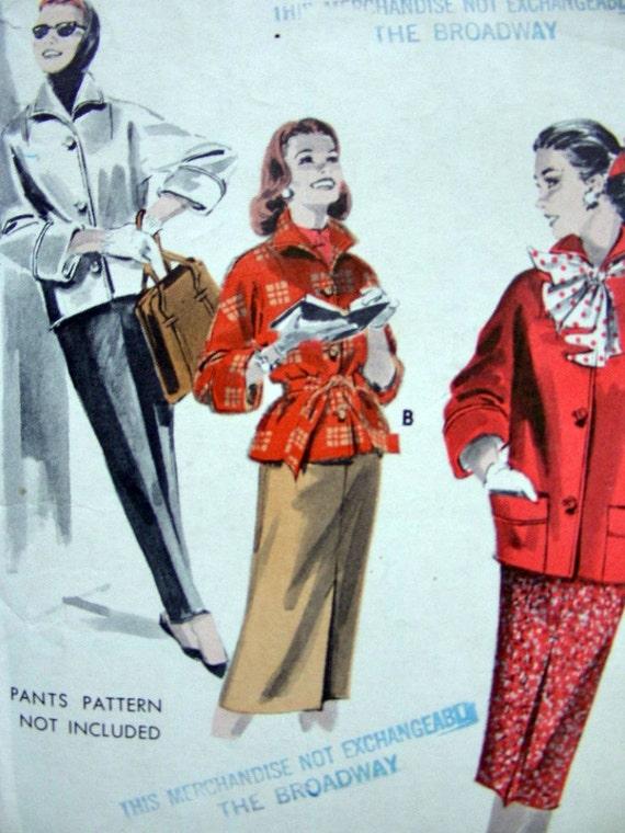 Vintage 50's  Sewing Pattern Butterick 7927 -  SPORTS WARDROBE -  size 12/32