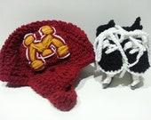 Minnesota Gophers Helmet and Ice Skates, Hockey Skates, MN Gophers