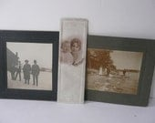 Vintage Photos Men Women Children 1920s Cabinet