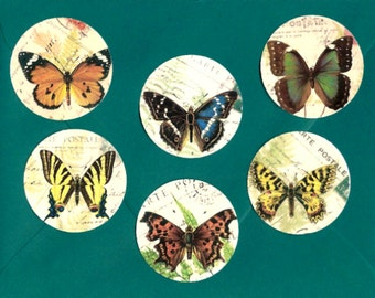 Stickers, Butterfly Stickers, Vintage Style, Butterfly