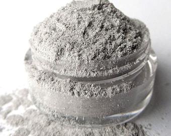 Clearance-Gray Silver Mineral Eyeshadow ' Poseidon'