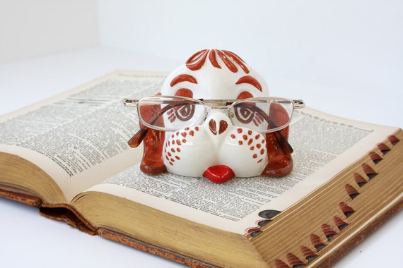 Vintage Ceramic Dog Eyeglass Holder