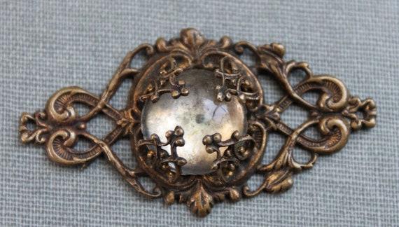 Art Nouveau Glass Jewel Pendant / The Eye of Graeae