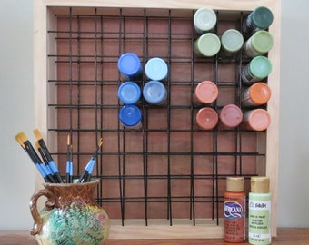 Paint Storage Rack Holds 81 2oz Craft Paint Bottles Paint Rack Paint Storage
