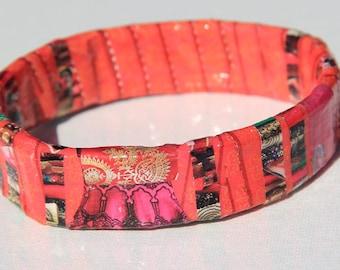 Sari Upcycled Magazine Bangle Bracelet